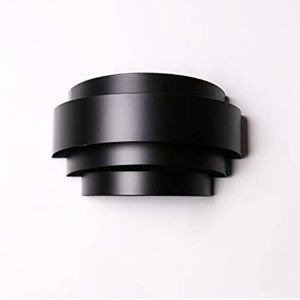 Contemporary wall sconce black wall mount metal